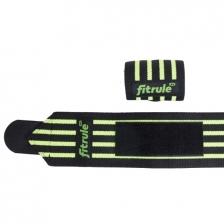 Бинты кистевые FitRule черно-зеленые MEDIUM (пара), 50см