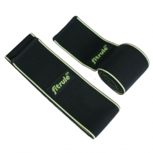 Бинты коленные FitRule черно-зеленый LIGHT (пара), 2 метра
