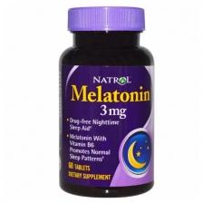 NATROL Melatonin 3 мг 60 табл