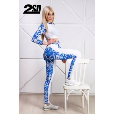 2SD лосины -  Blue & white gzhel (size: XS)