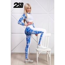 2SD лосины -  Blue & white gzhel (size: M)