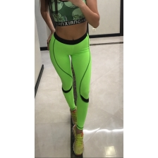 2SD лосины - lime green + black lines + black belt (xs)