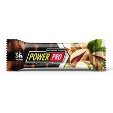 PowerPro протеиновый батончик с орехами 60 г (x20) (Фисташковое пралине)