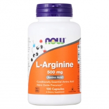 NOW L-arginine 500 mg 100 caps