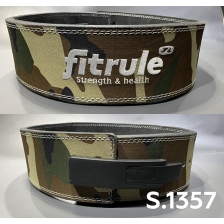 Ремень FitRule weight lifting lever belts in camo design art: 1357