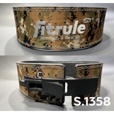 Ремень FitRule weight lifting lever belts in camo design art: 1358
