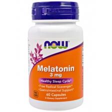 NOW melatonin 60 caps