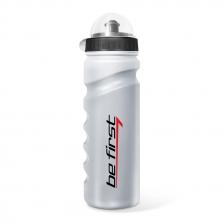 Be First Бутылка для воды 750 мл с крышкой, серебристая