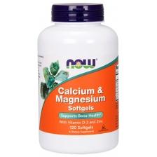 NOW Calcium-Magnesium + D 120 sof