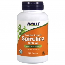 NOW Spirulina 1000 mg 120 t