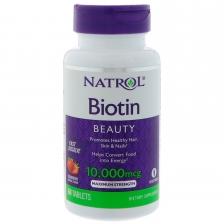 NATROL Biotin 10,000 mcg 60 tabs