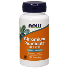 NOW Chromium Picolinate, 200 mcg 100 caps