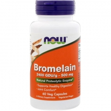 NOW Bromelain 500 mg 60 caps
