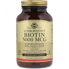 Solgar Biotin 5000 mcg 100 caps