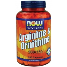 NOW Arginine & Ornithine 500/250 250 caps