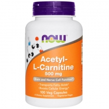 NOW Acetyl L-Carnitine 500 mg 100 caps