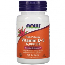 NOW Vitamin D-3 5000 ME 120 caps
