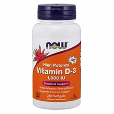 NOW Vitamin D-3 1000 ME 360 caps