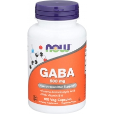 NOW GABA 500mg  + B6 100 caps