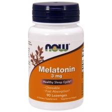 NOW Melatonin 3 mg 90 (жевательные пастилки)