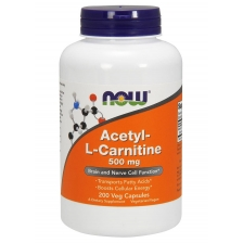 NOW Acetyl L-Carnitine 500 mg 200 caps