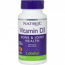 NATROL Vitamin D-3 2000 ME 90 caps