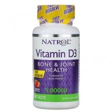 NATROL Vitamin D-3 5000 ME 90 caps