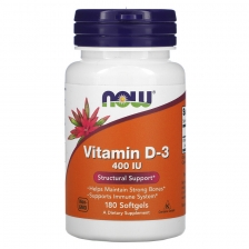 NOW Vitamin D-3 400 ME 180 caps