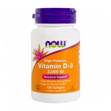 NOW Vitamin D-3 2000 ME 120 caps